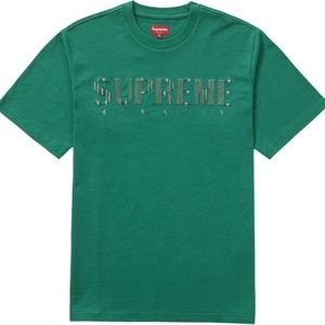 37817b47f3a9 Supreme Gradient logo tee Green NEW with tags